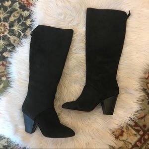 Nine West suede tall boots 8